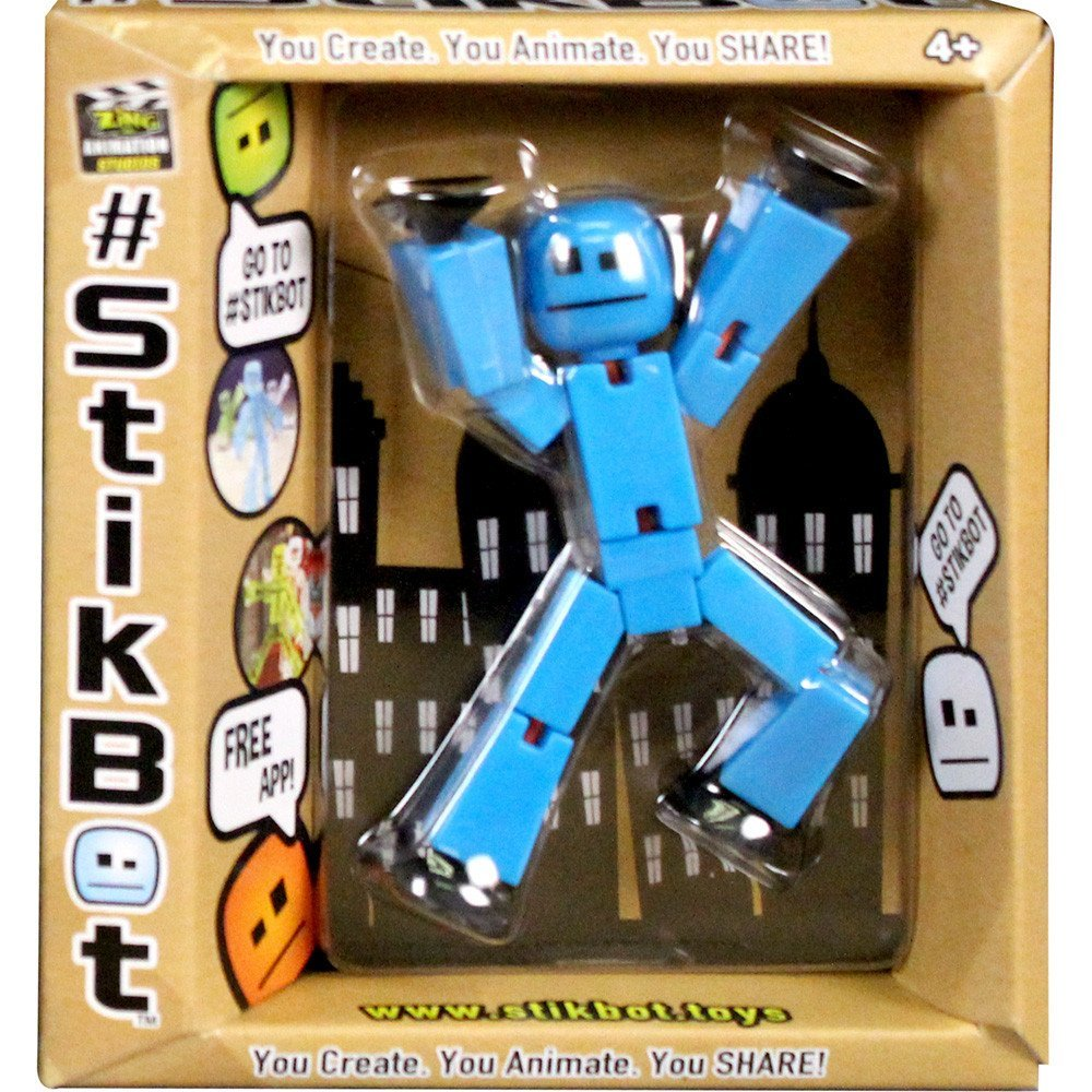 Stikbot Clear Blue Action Figure Filming Animation Toy Stikbot New In Box