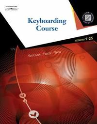 Keyboarding Course, Lessons 1-25 by Connie M Forde image