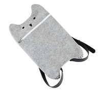 TrueZoo: Grey Cat - Felt Bottle Bag