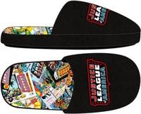 Justice League: Comic Sublimated - Slide Slippers (L)