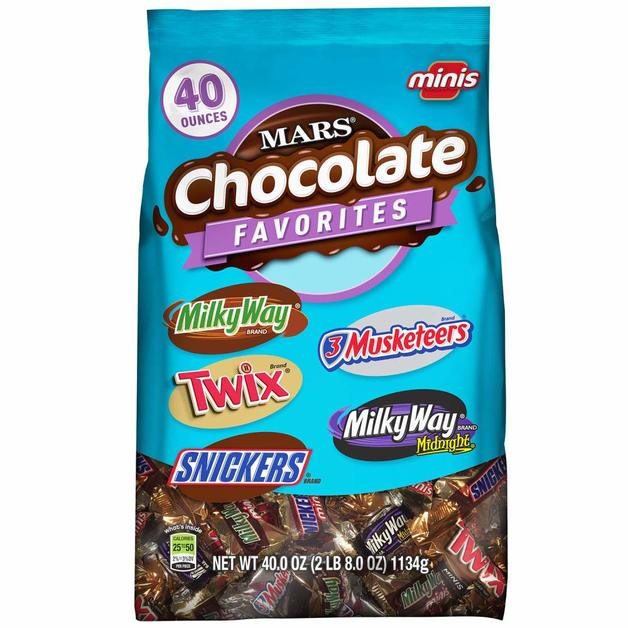 Mars Chocolate Minis Size Candy Variety (1.13kg)