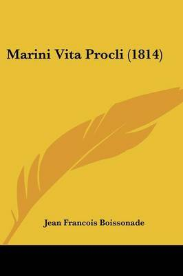 Marini Vita Procli (1814) by Jean Francois Boissonade image