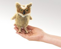 Folkmanis: Hand Puppet - Mini Great Horned Owl