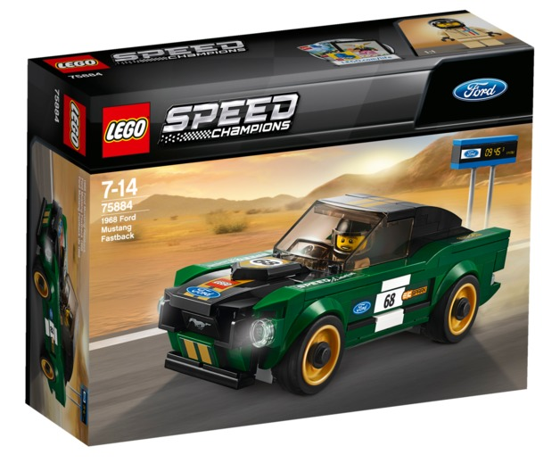 LEGO Speed Champions - 1968 Ford Mustang Fastback (75884) | Toy | at ...