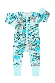 Bonds Zip Wondersuit Long Sleeve - Unreal Tiger Silver (0-3 Months)