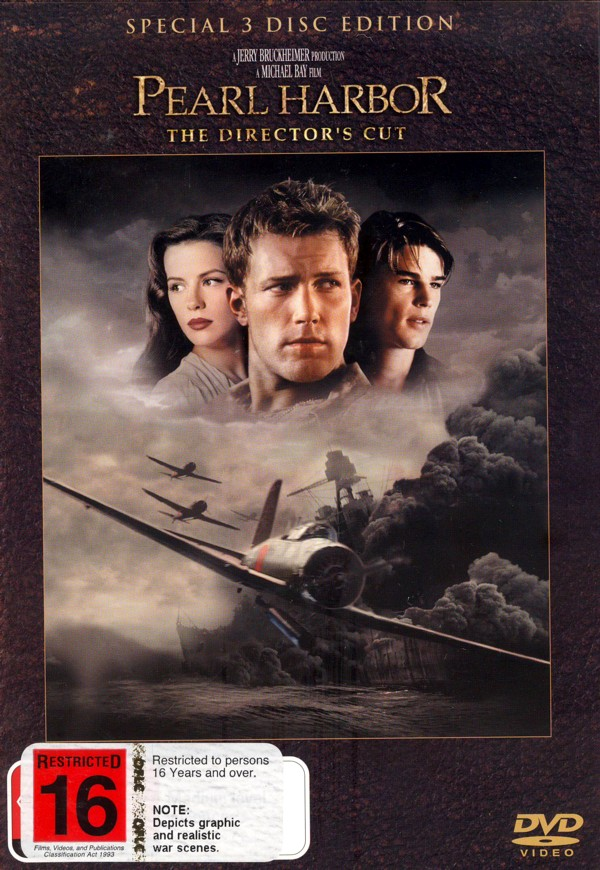 Pearl Harbor - The Director's Cut (3 Discs) on DVD image