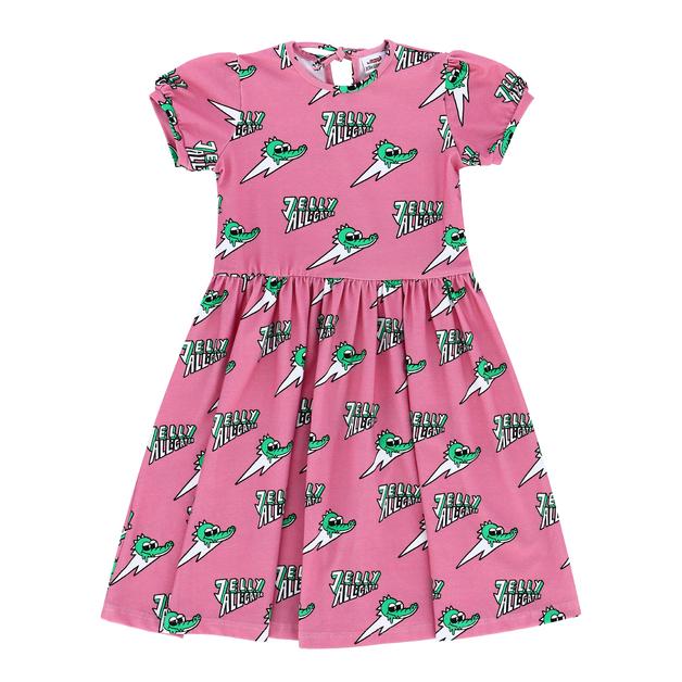 Jelly Alligator: Pink Dress - 8-9Y