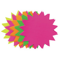 Fluro Stars 203mm - Pack of 20 (Assorted Colours)