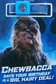 Star Wars: Interactive Sound Birthday Card - Chewbacca