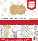Craft Smith 6 x 6 Paper Pad - Shimmer Christmas