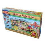 Wooden Railway Set 132 Pieces - Melissa & Doug