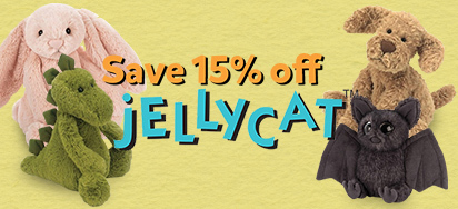 15% off Jellycat!