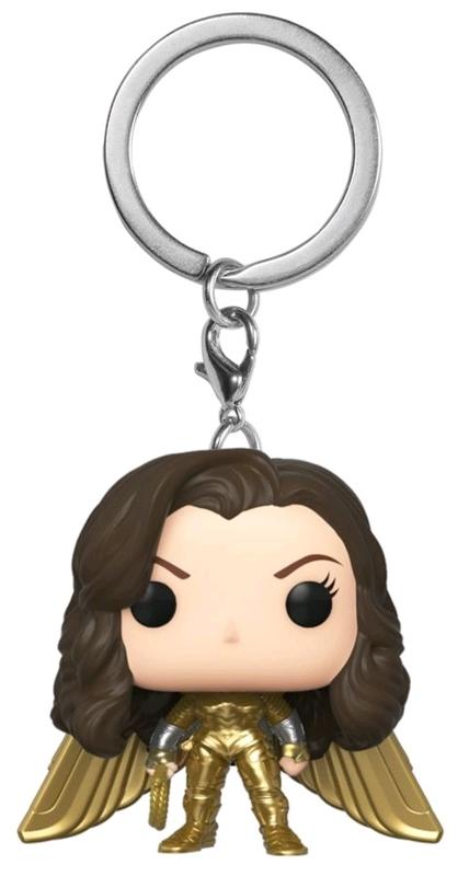 Wonder Woman Gold No Helmet Pocket Pop! Keychain