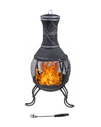 Cast Iron & Steel Chiminea (39x89cm)