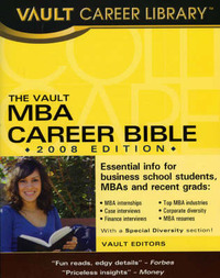 The Vault MBA Career Bible by Vault Editors image