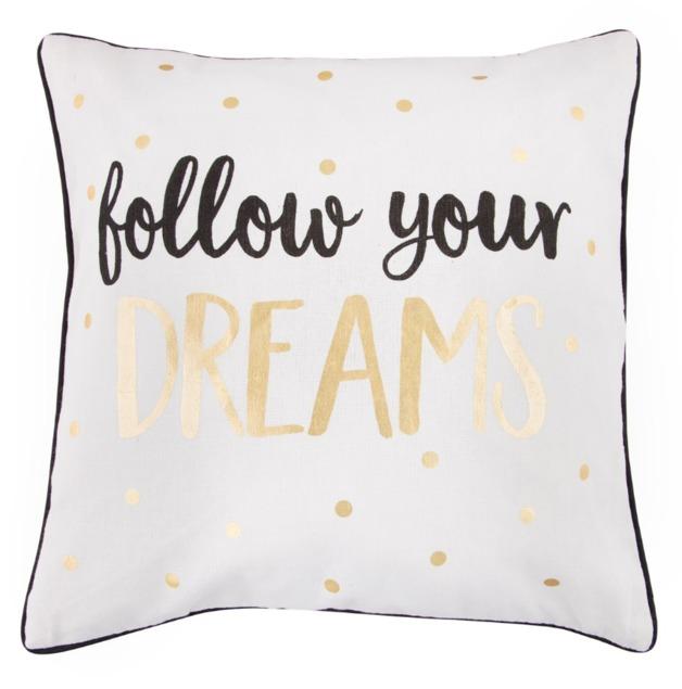 Metallic Monochrome Dreams Cushion