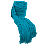Bambury Cambridge Ruffle Throw Rug (Aqua)