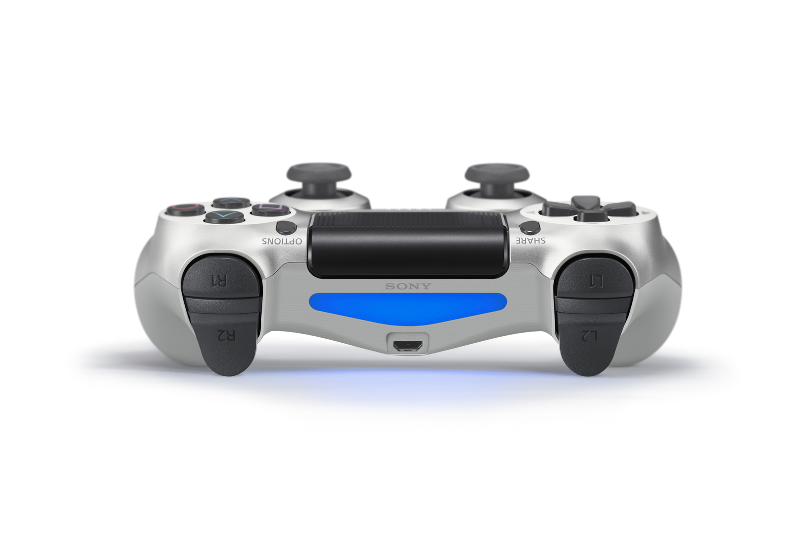 PlayStation 4 Dual Shock 4 v2 Wireless Controller - Silver for PS4 image