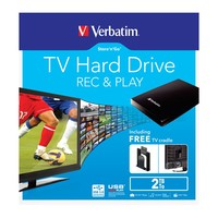 "Verbatim 2.5"" Store'n'Go TV Hard Drive USB 3.0 - 2TB (Black)"