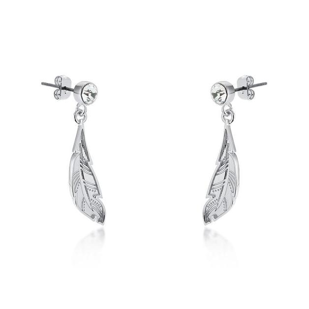 Couture Kingdom: Disney - Princess Pocahontas Feather Earrings (White Gold)