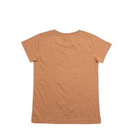 Cheeky Chimp: Print Tee - Tan (Size 7)