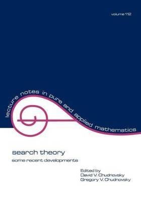 Search Theory by David V. Chudnovsky