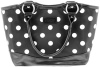 Sachi Insulated Lunch Bag - Black Polka Dots