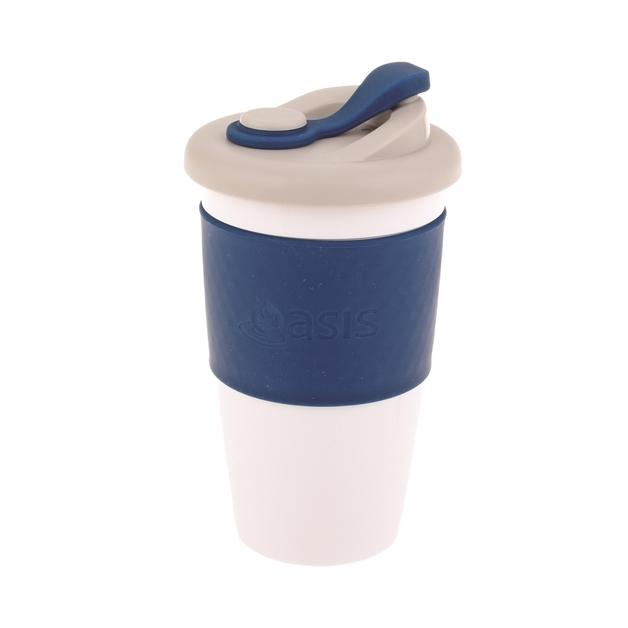 Oasis Plastic Coffee Cup - Navy (454ml)