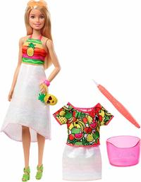 Barbie: Crayola Rainbow Fruit - Surprise Doll (Pineapple)