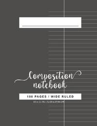 Wide Ruled Composition Notebook by Nadine Pitt image