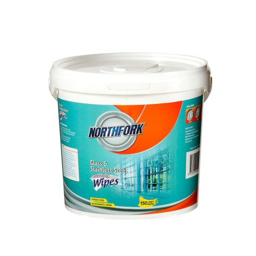 Northfork Glass & Stainless Steel Wet Wipes - Tub of 150