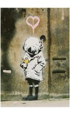 Blue Island Press Cards: Banksy - Pink Heart