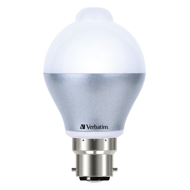 Verbatim LED Classic A 6W 480lm 3000K Warm White B22 - Built-In Sensor