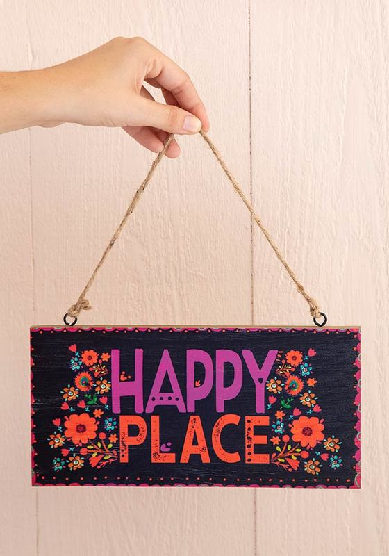 Natural Life: Welcome Sign - Happy Place