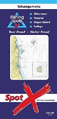 Spot X Whangamata Chart: Fishing Spots by X Spot