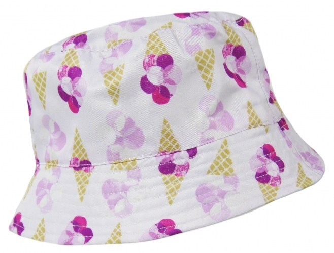 Ice Cream: Girls Sun Hat - Cornet/7-10 image