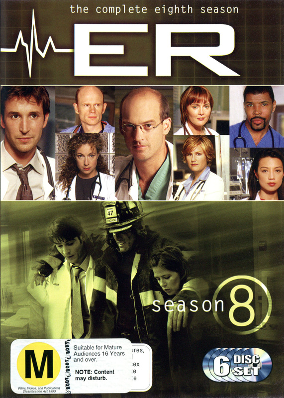 E.R. - The Complete 8th Season (6 Disc Set) on DVD