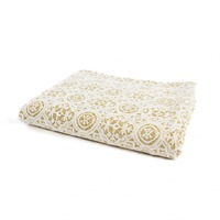 White Lace & Glitter Throw