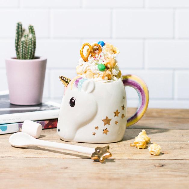 Magical Unicorn Mug and Wand Spoon