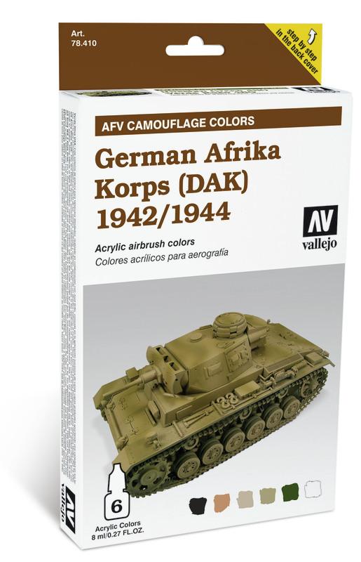 Vallejo AFV German Afrika Korps '42/44(DAK) Set