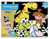 Avenir: Colouring Velvet Kit - Dinosaur Family