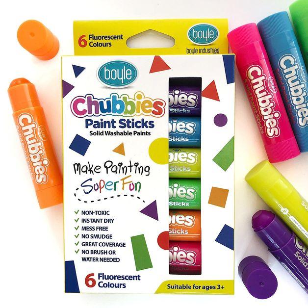 Boyle: Chubbies Paint Sticks Set (6) - Fluorescent