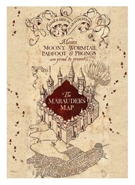 Harry Potter: Marauders Map - MightyPrint Wall Art