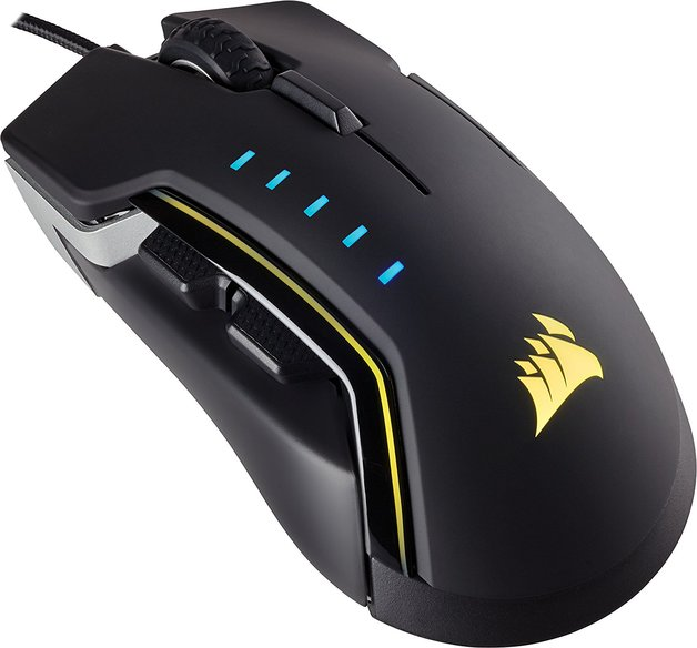 Corsair GLAIVE RGB Gaming Mouse - Black for PC Games