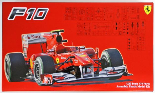 Fujimi: 1/20 Ferrari F10 (Japan GP/German GP/Italy GP 2010) - Model Kit