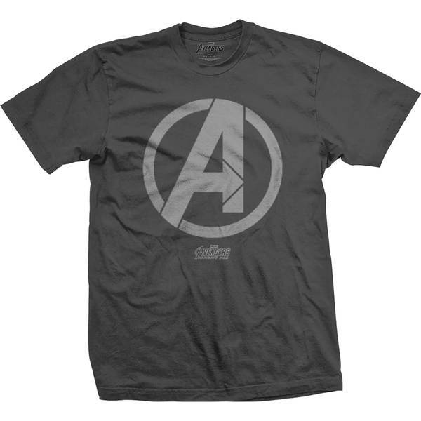 Avengers Infinity War A Icon Mens Charcoal TS: XL