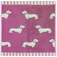 Emily Bond Facecloth - Pink Dachshunds