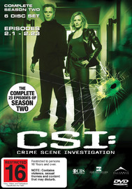 CSI - Las Vegas: Complete Season 2 (6 Disc Set) on DVD