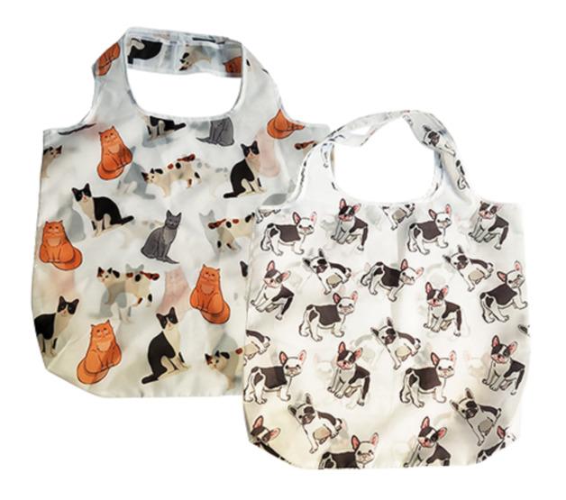 Bulldog & Cat Reusable Bag (Assorted)