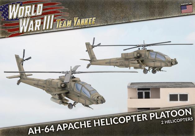 Flames of War: Team Yankee - AH-64 Apache Helicopter Platoon (x2 Plastic)